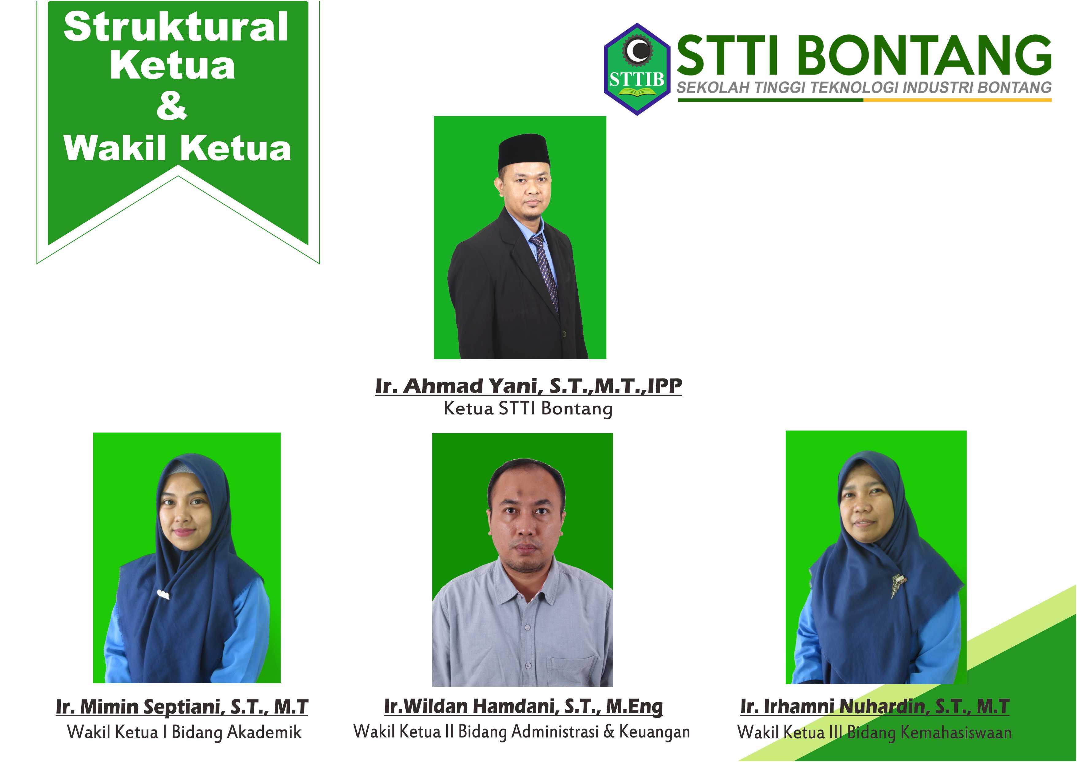 Struktur Ketua dan Wakil Ketua